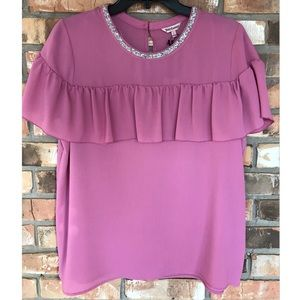 Juicy Couture Ruffled Front Top Large